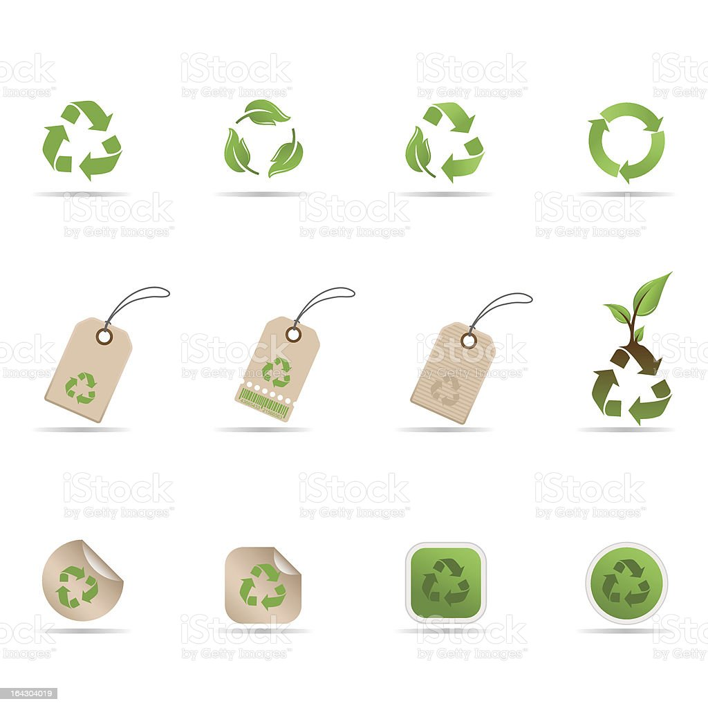 Recycling Symbols Tags And Stickers Stock Vector Art More Images
