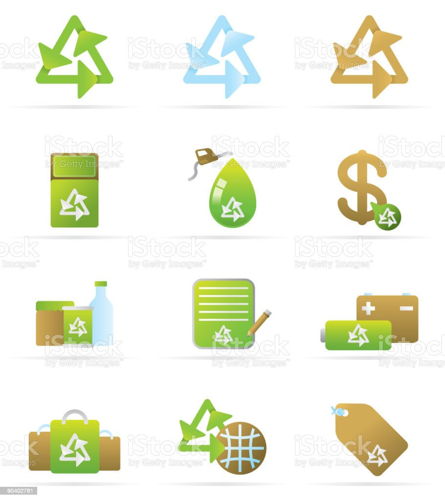 Recylce Icons royalty-free stock vector art