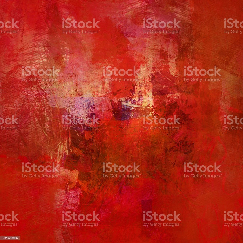 red abstract on canvas vector art illustration
