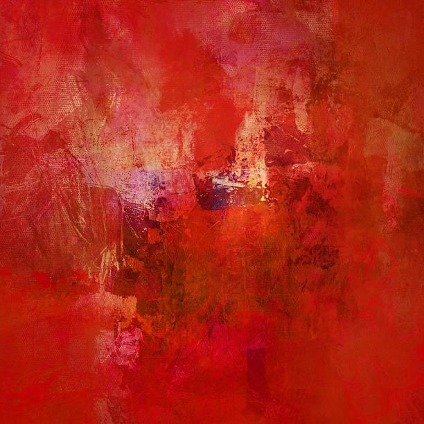 Rot abstrakt auf Leinwand – Vektorgrafik