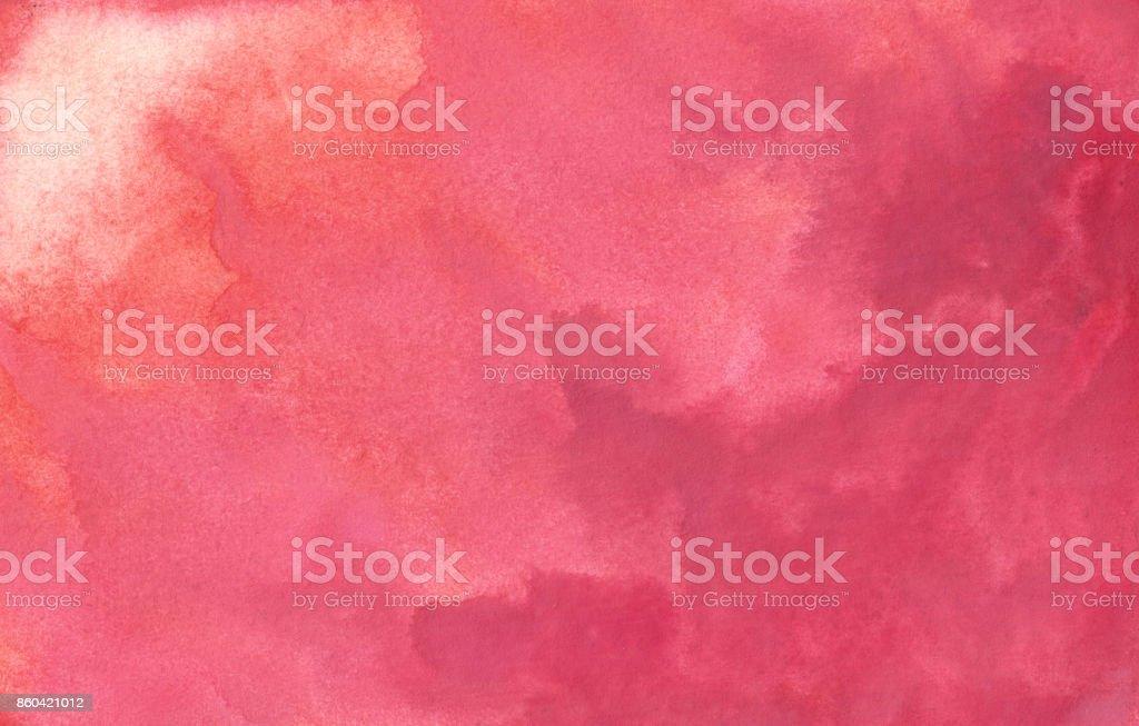 Fondo rojo abstracto acuarela - ilustración de arte vectorial