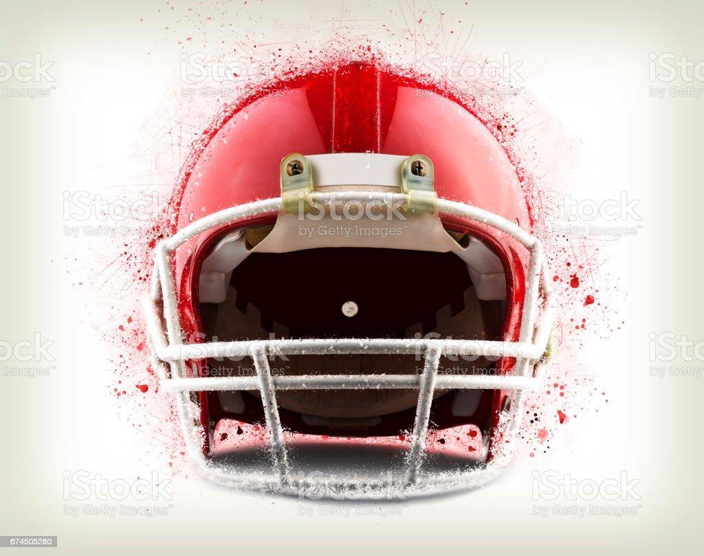 Red American Football Helmet Shattering Stock Illustration Download Image Now Istock