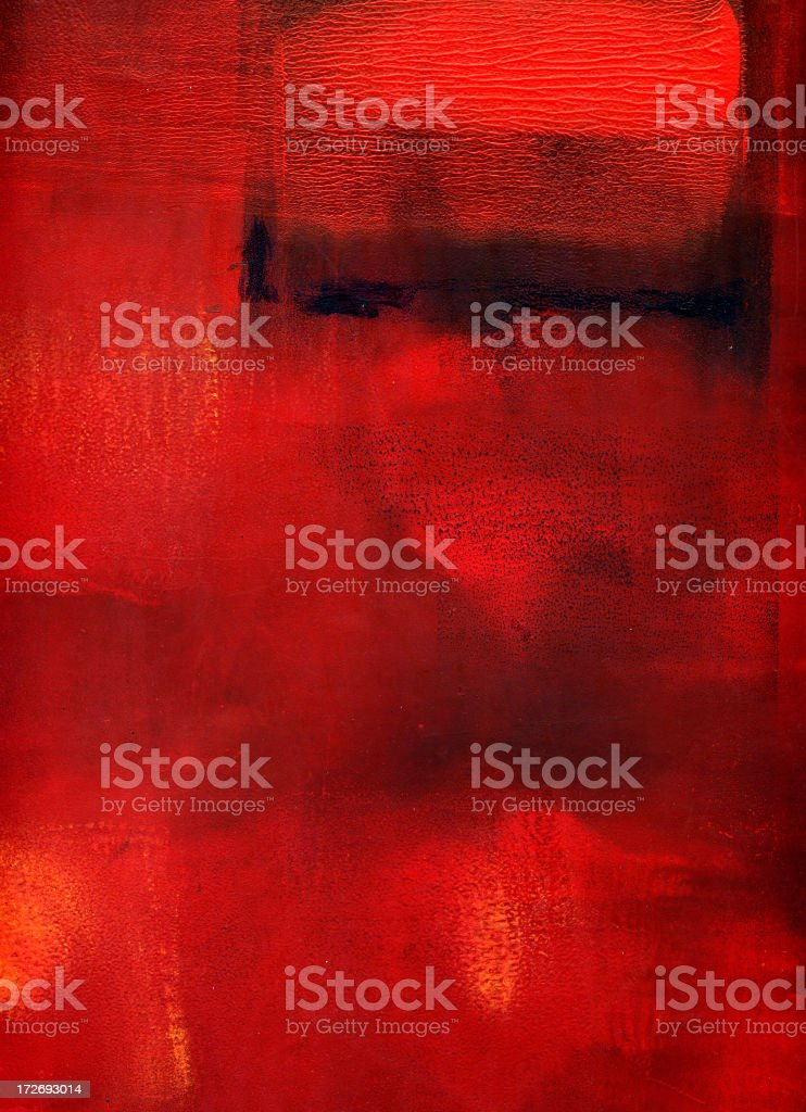 Red and black background My own painting, scanned. A great textured background. Abstract stock illustration