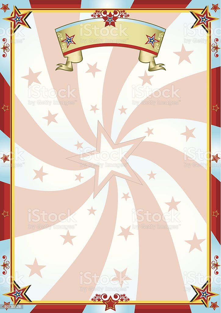 red and blue background circus royalty-free stock vector art