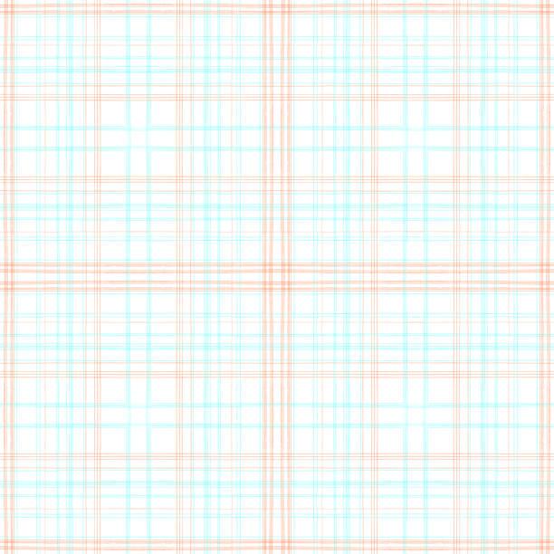 Cuadrícula roja y azul sobre textura de fondo sin costuras blanca - ilustración de arte vectorial