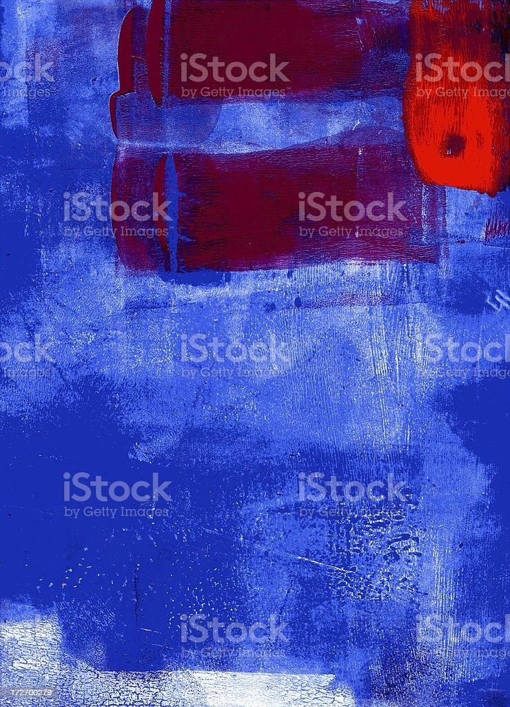Red and blue grunge vector art illustration