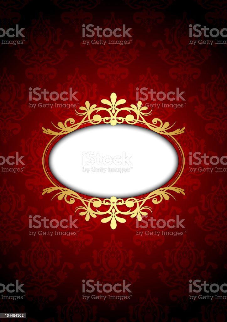 red and gold luxury frame vector art illustration