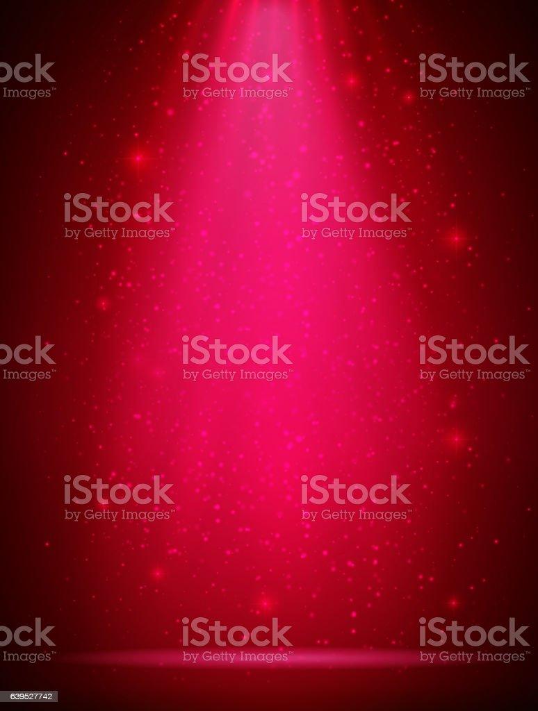 Red and Pink scene spotlights -  Glitter Background vector art illustration