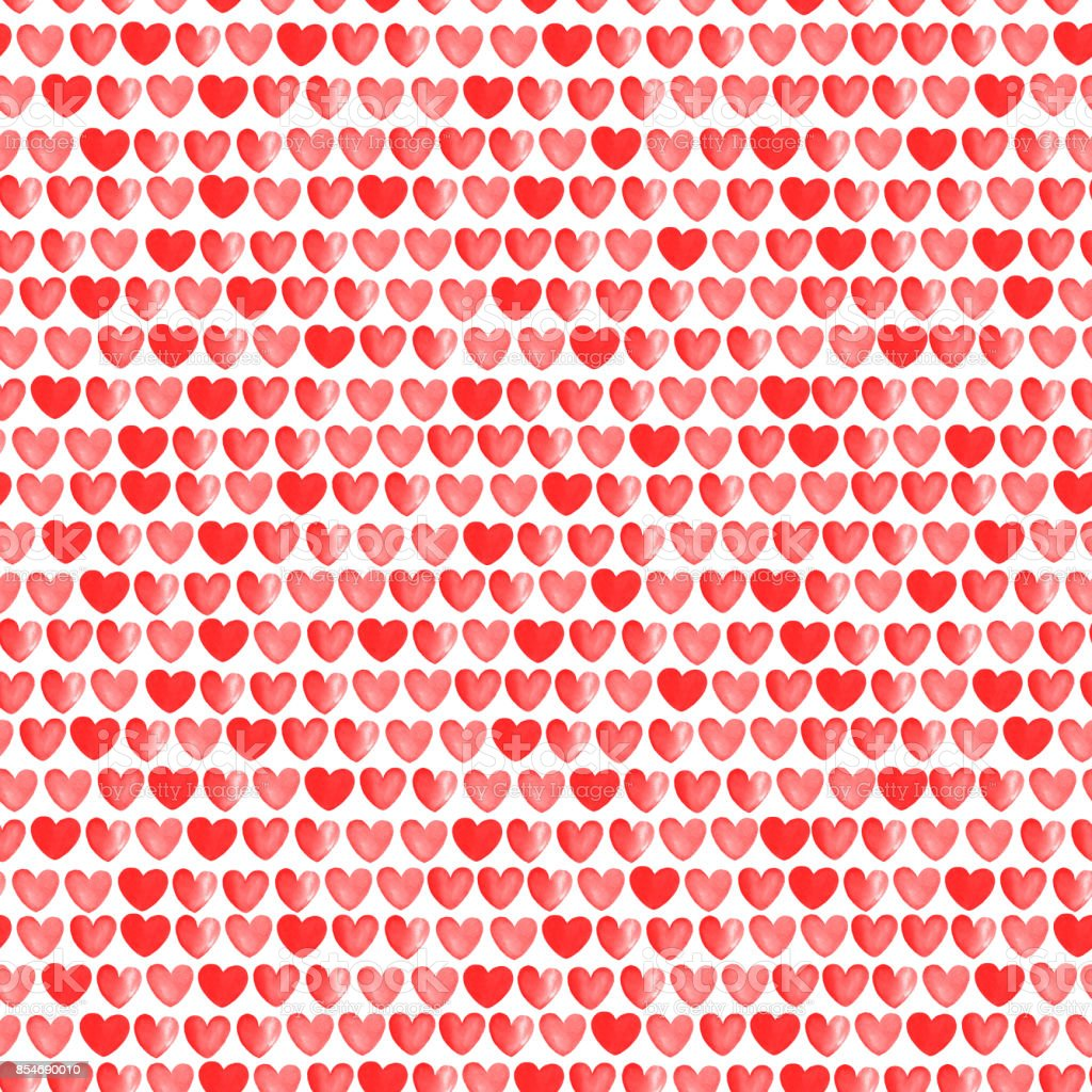 red and white hearts pattern vector art illustration