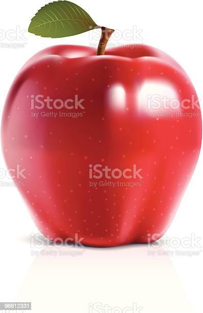 Red Apple-vektorgrafik och fler bilder på ClipArt