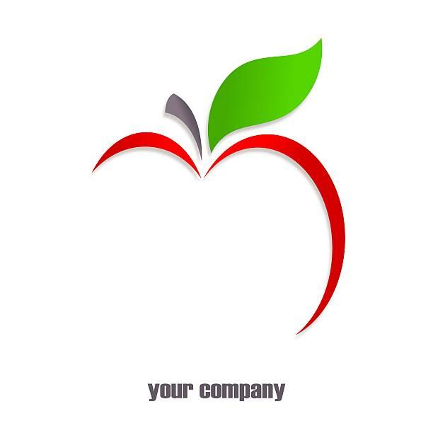 Logotipo de apple rojo - ilustración de arte vectorial