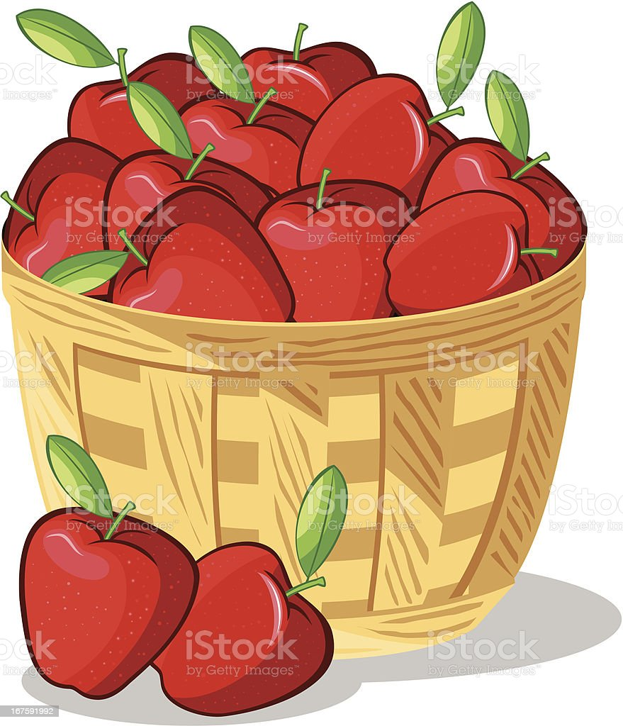 royalty free basket of apples clip art vector images rh istockphoto com Fall Apple Basket Clip Art Fall Apple Basket Clip Art