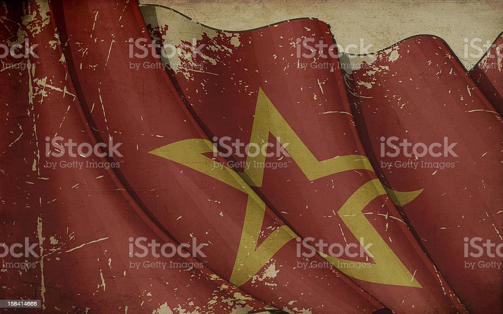 Red Army Old Paper royalty-free stock vector art