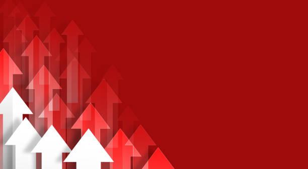 ilustrações de stock, clip art, desenhos animados e ícones de red arrows background - vr red background
