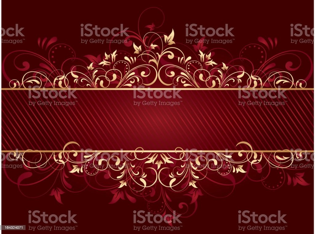 Red background with template royalty-free stock vector art