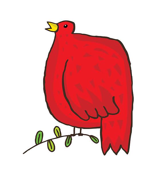 Red Bird vektorkonstillustration