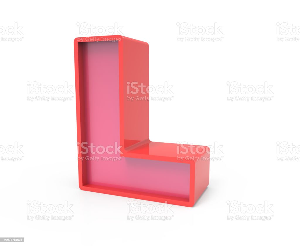 Block Letter L Letras t