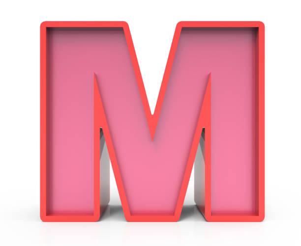 Royalty Free Silhouette Block Letter M Clip Art Vector