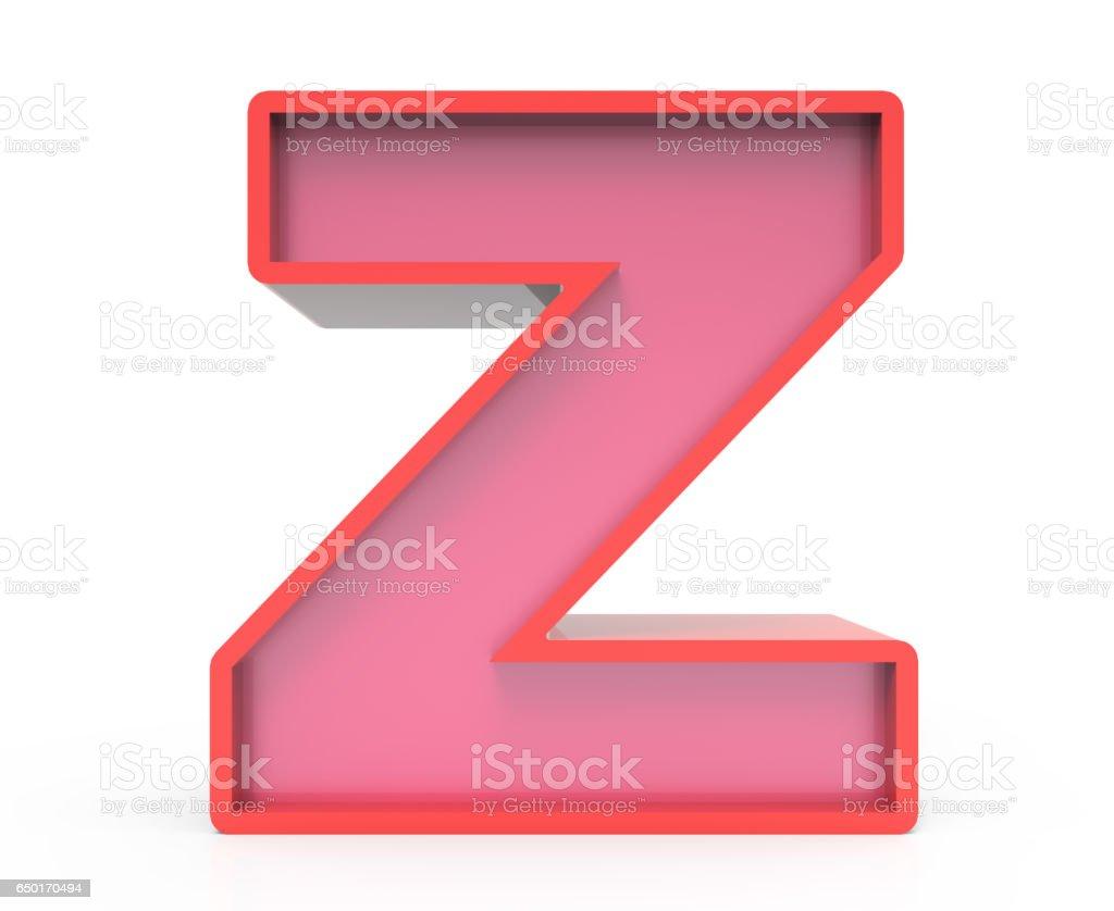 Letter Z t
