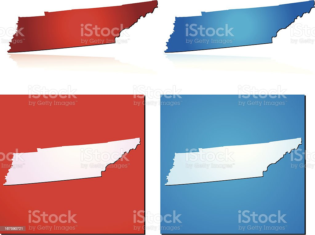Red Blue Tennessee royalty-free stock vector art