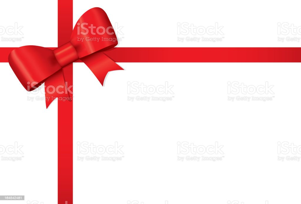 Red Bow and Ribbon royalty-free red bow and ribbon stock vector art & more images of box - container