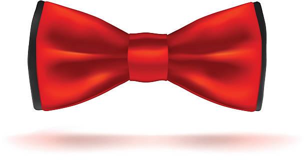 Red bow-tie. vector art illustration