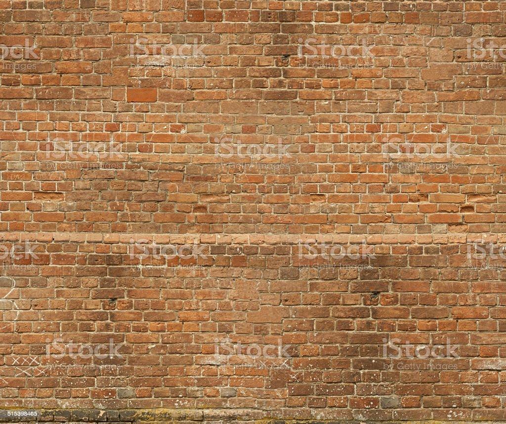 Red brick wall vector art illustration
