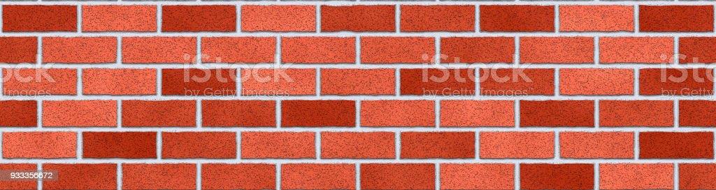Red bricks wall abstract background. Texture of bricks. Panorama - ilustração de arte vetorial