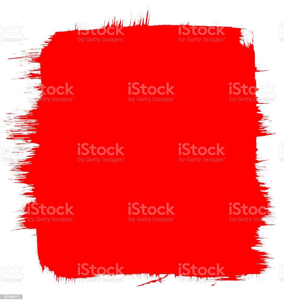Red Brush Background vector art illustration