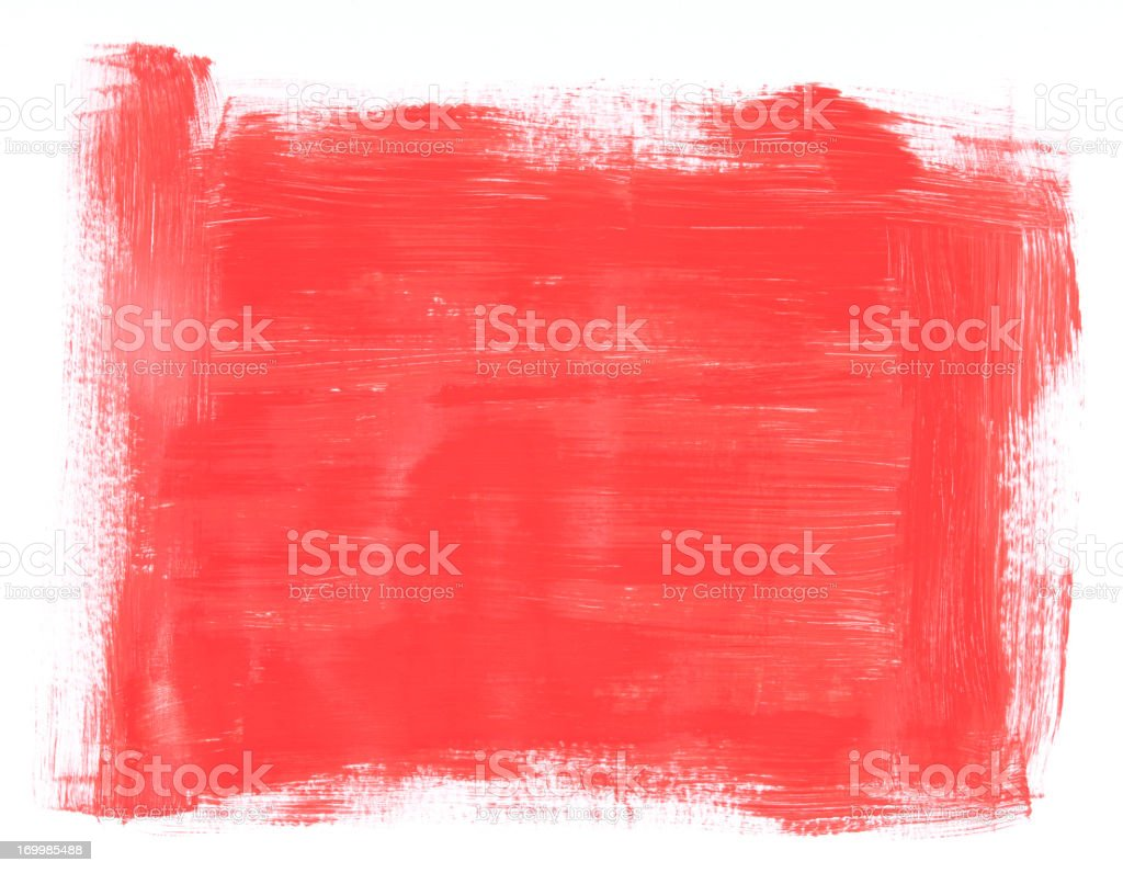Red Brush Painted Frame Texture royalty-free stock vector art