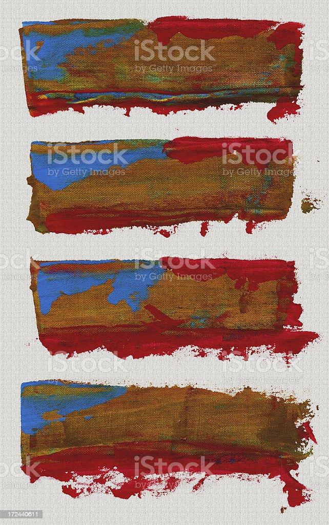 Red Brush Stroke royalty-free stock vector art