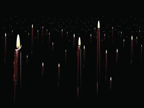 Red candle background