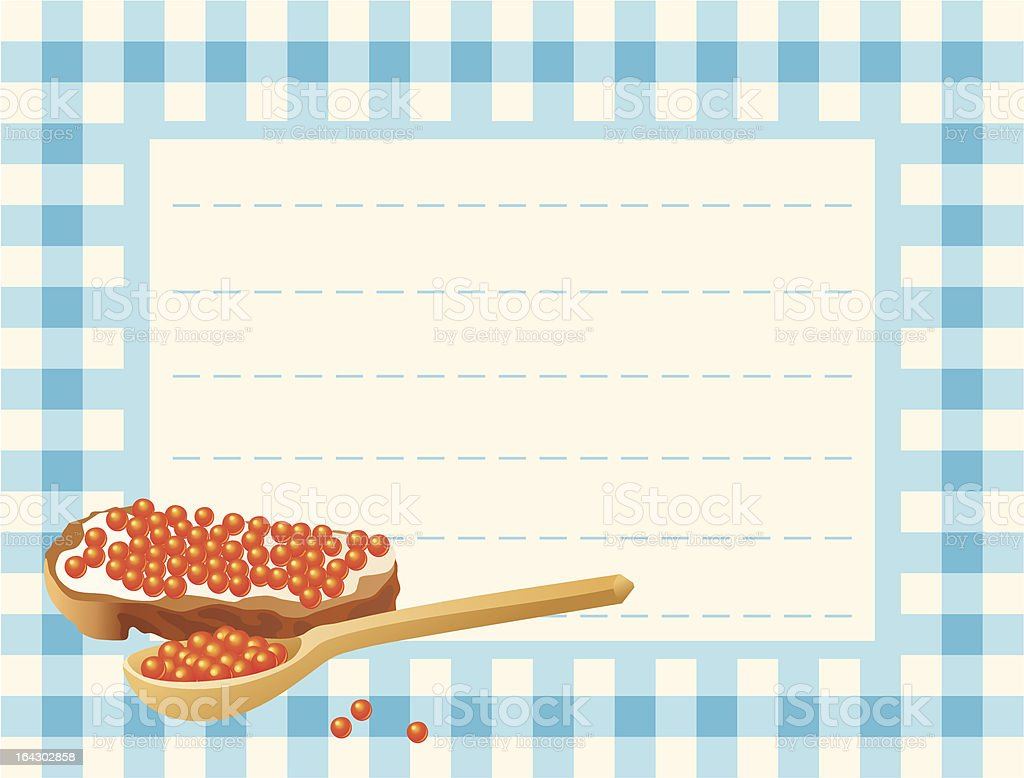 Red caviar on chequered background royalty-free red caviar on chequered background stock vector art & more images of blue