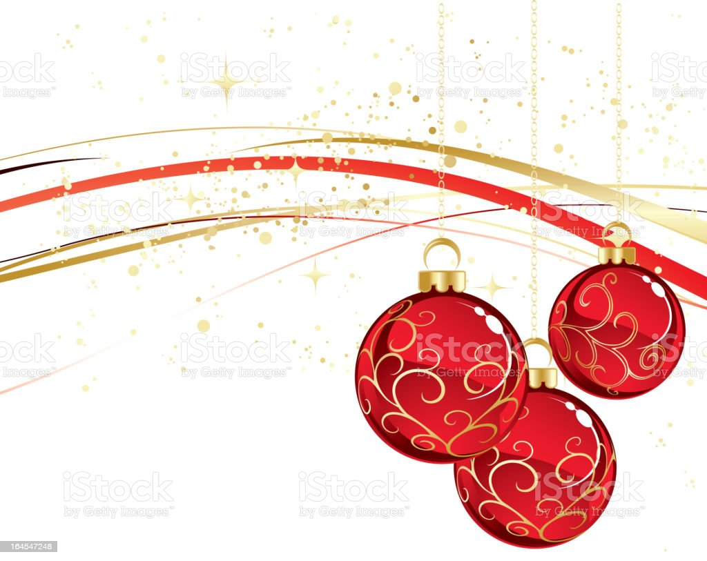 Red christmas balls decoration royalty-free stock vector art