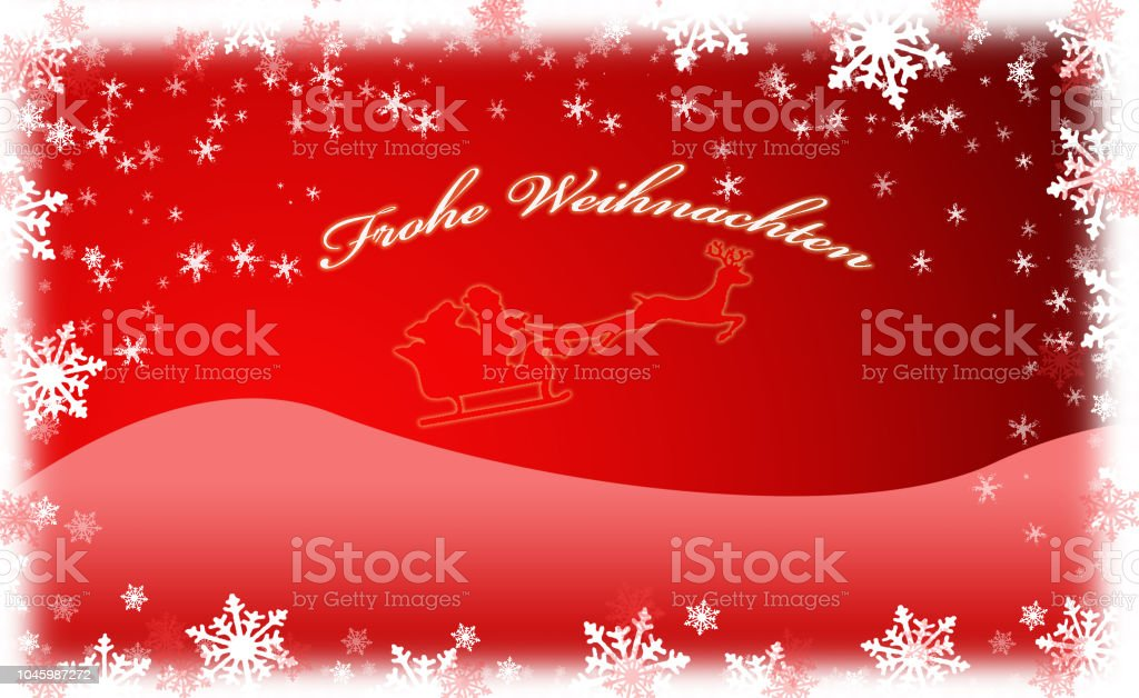 red christmas card with santa claus snowflakes royalty free red christmas card with santa