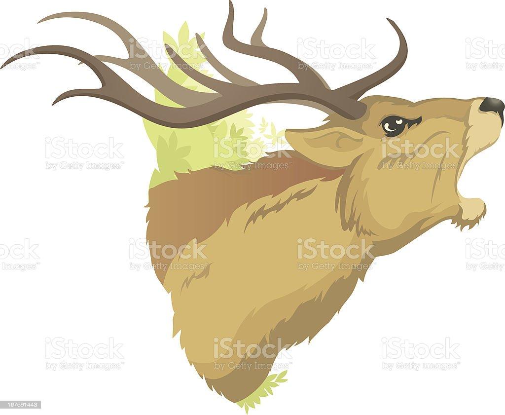 Red Deer vector art illustration