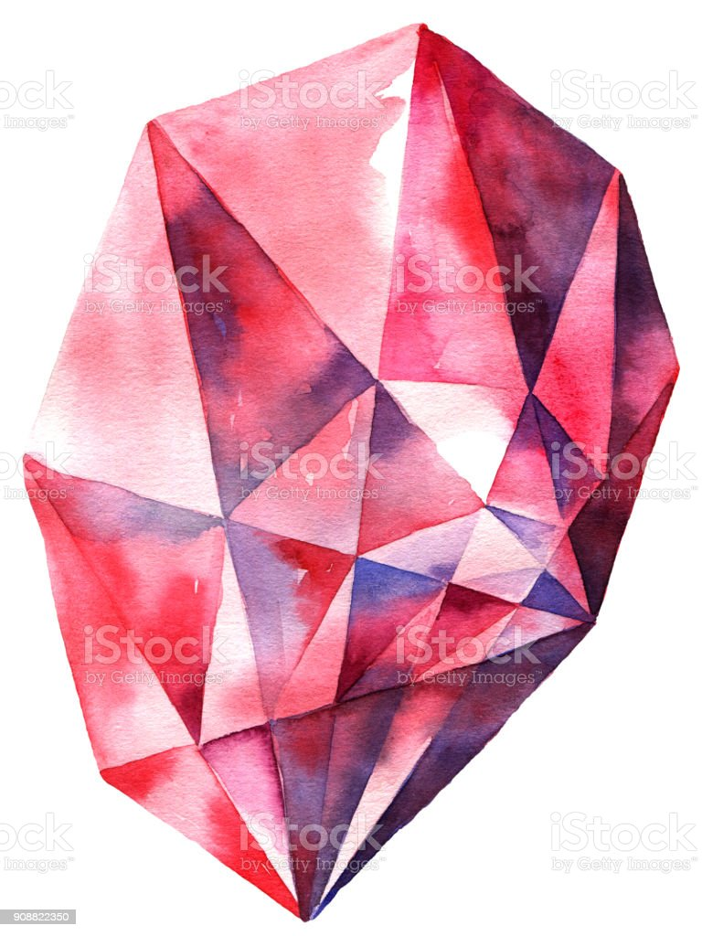 Red Diamond Crystal Stock Vector Art More Images Of Abstract