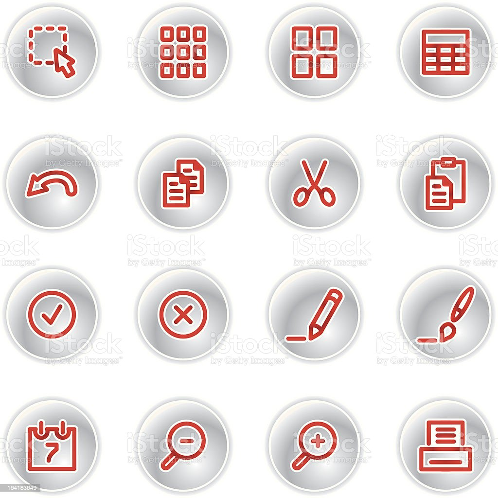red document icons royalty-free stock vector art