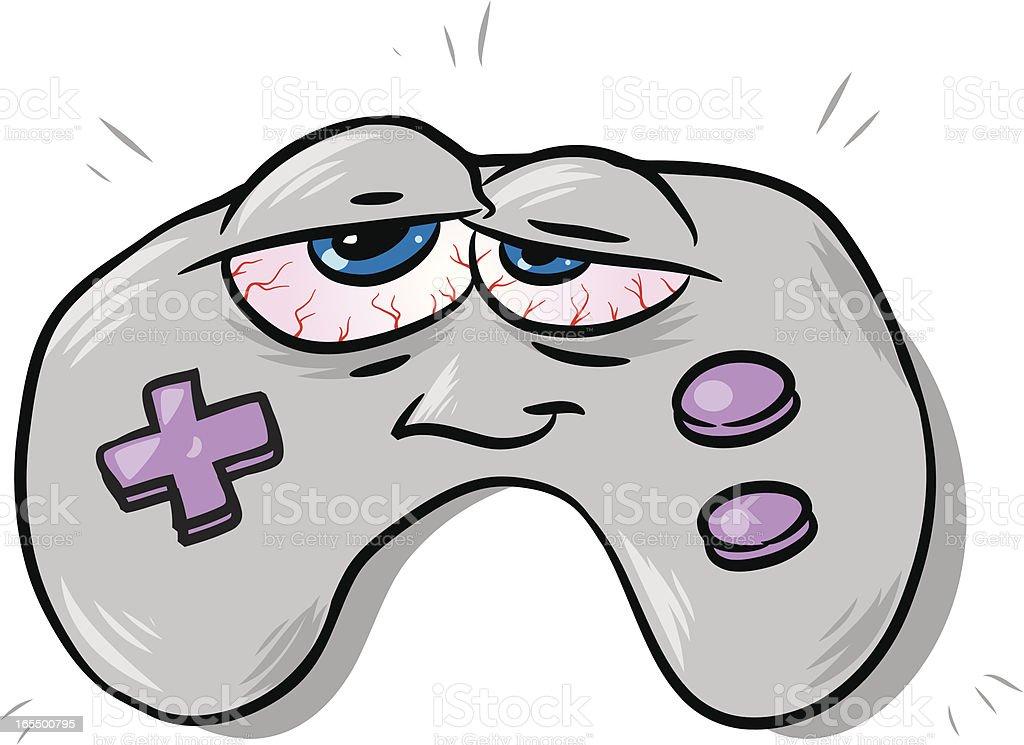 red eye gamer vector art illustration