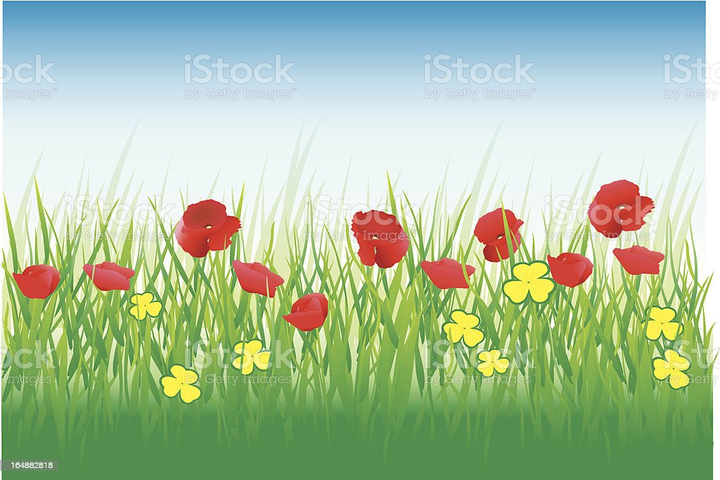 Red Flowers royalty-free stock vector art