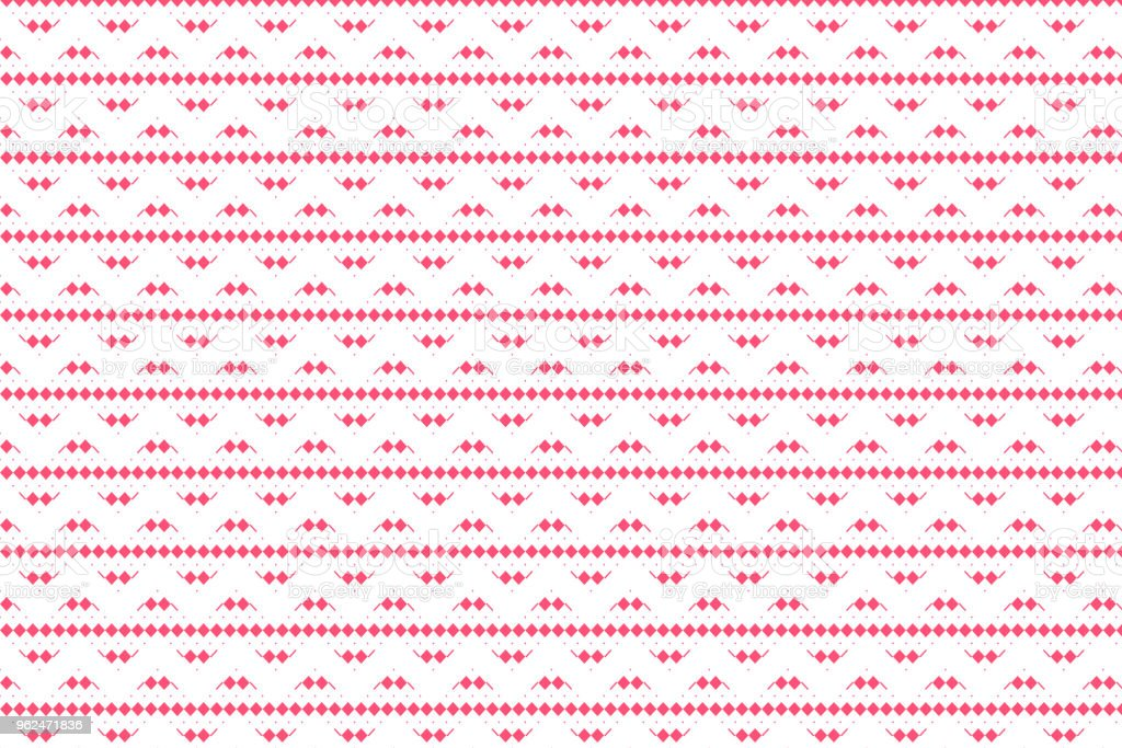 Red geometric and line shape pattern on white background vector art illustration