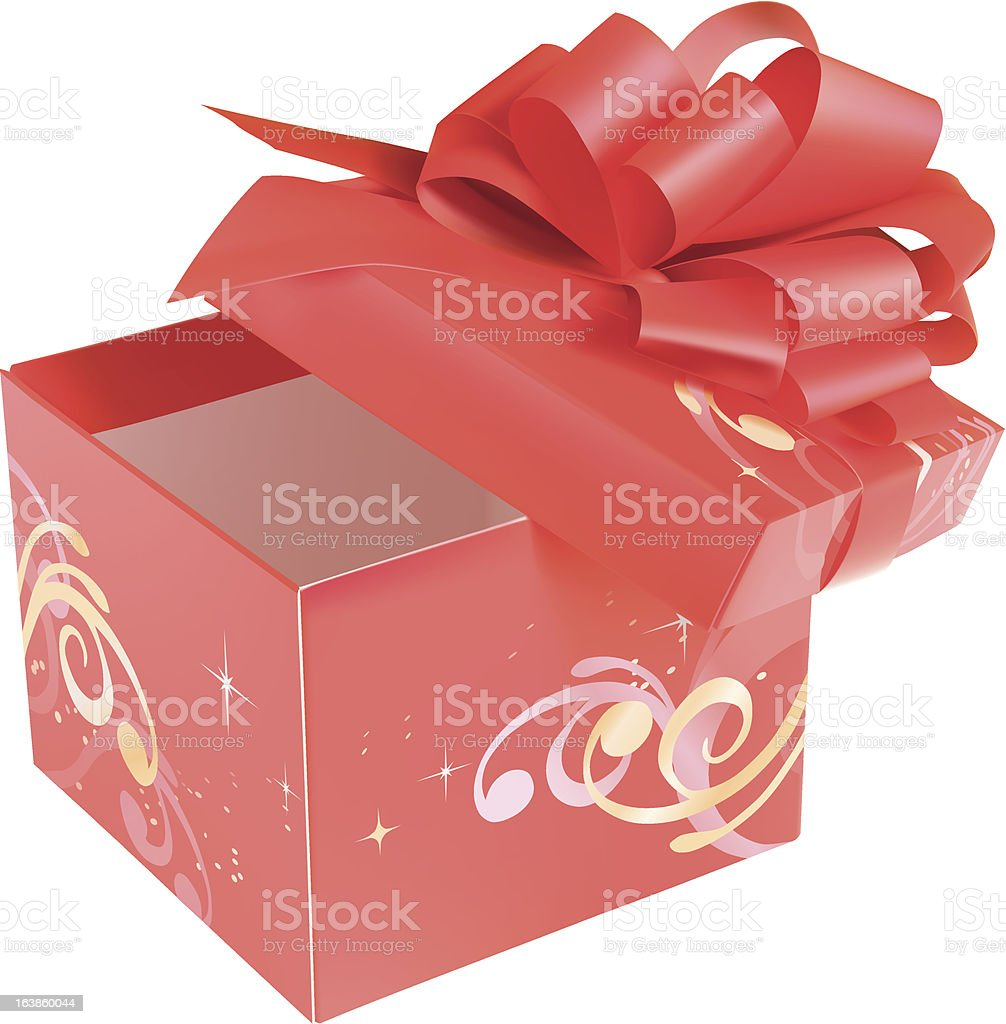 Red gift box royalty-free stock vector art