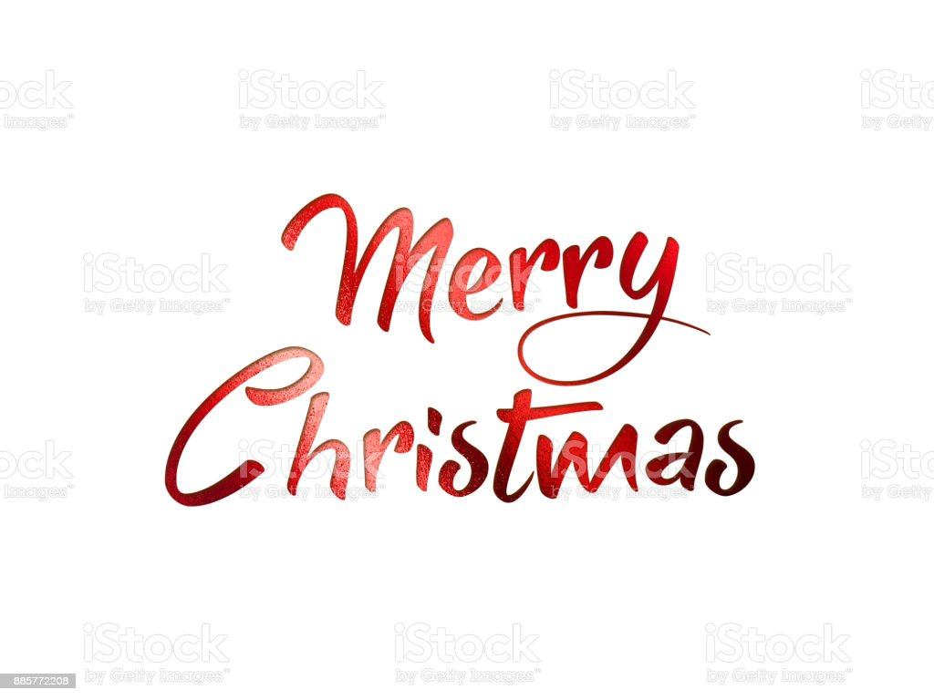 Merry Christmas Writing Images.Red Glitter Isolated Hand Writing Word Merry Christmas Stock