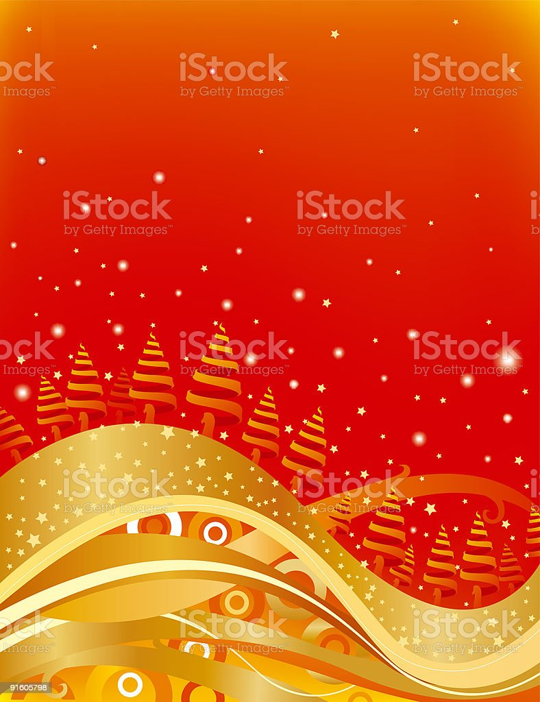 Red gold Christmas card royalty-free red gold christmas card stock vector art & more images of backgrounds