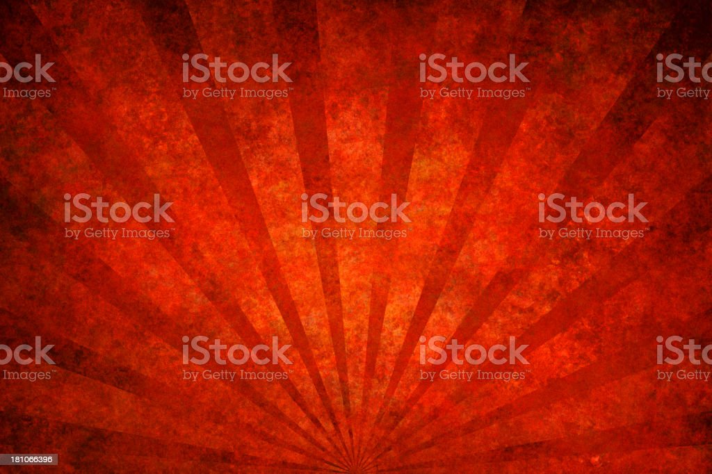red grunge texture with sunrays royalty-free stock vector art