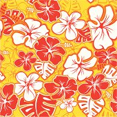 Red Hawaiian Pattern