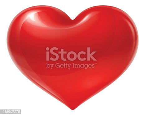 istock Red heart 165907275