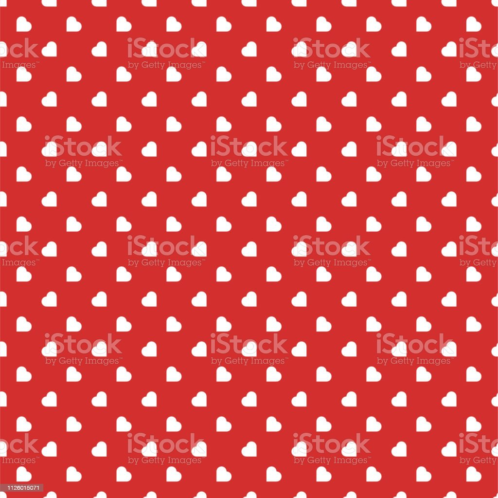 Red Hearts Seamless Love Background Pattern For Valentines