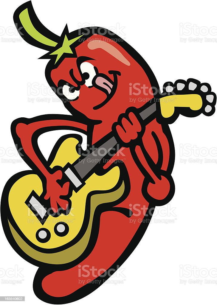 Red Hot Chilli Pepper royalty-free stock vector art