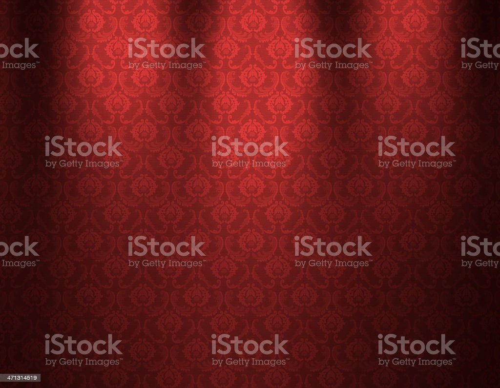 Red Luxurious Wallpaper royalty-free stock vector art